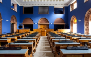 Session Hall of the Riigikogu, 2013. Photo: Paul Kuimet