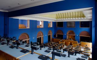 Press Balcony of the Session Hall of the Riigikogu, 2013 Photo: Paul Kuimet