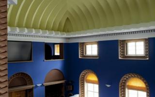 The ceiling of the Session Hall of the Riigikogu, 2013 Photo: Paul Kuimet