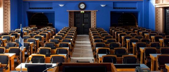 Riigikogu istungisaal, 2013 Foto: Paul Kuimet