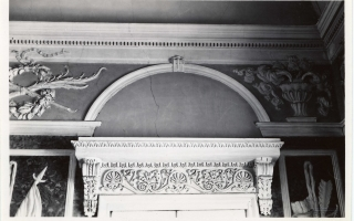 Artificial marble and stucco decorations by Schultz in the White Hall, before 1935. Photo by Parikas in the University of Tartu collection of photographs on art history (Toompea Castle, 2008, p. 51, ill. 52–53)