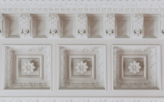 Edge of the ceiling in the White Hall, inspired by Antiquity.