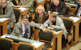Фракция Центристской партии в зале. Фото: Эрик Пейнар