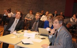 Mälumäng Riigikogu lahtiste uste päeval, Sotsiaaldemokraatliku erakonna fraktsiooni võistkond Foto: Erik Peinar