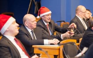 Jõuluvana Riigikogus Foto: Erik Peinar