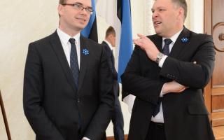 Kaitseminister Sven Mikser ja keskkonnaminister Marko Pomerants