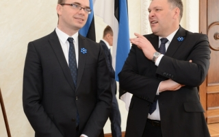 Minister of Defence Sven Mikser and Minister of the Environment Marko Pomerants
