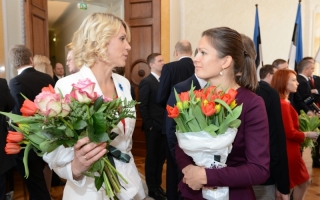 Minister of Entrepreneurship Urve Palo and member of the Riigikogu Anne Sulling