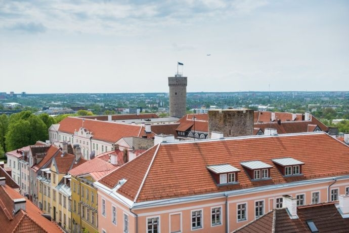 View of Toompea Castle from the tower of St Mary's Cathedral. Photo: Erik Peinar