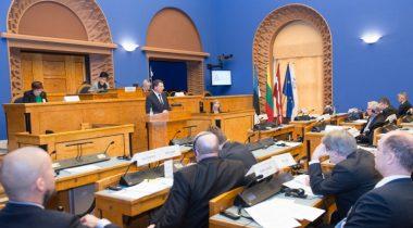 Balti Assamblee 33. istungjärk Riigikogu istungisaalis