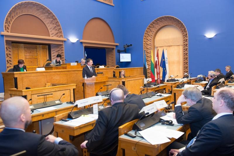 Balti Assamblee 33. istungjärk 2014. a, assamblee töötamas Riigikogu saalis