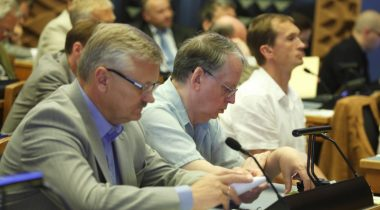 Keskerakonna fraktsioon istungisaalis, XII Riigikogu
