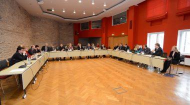 Keskkonnakomisjoni ja maaelukomisjoni ühisistung konverentsisaalis. Kalanduseteemaline arutelu