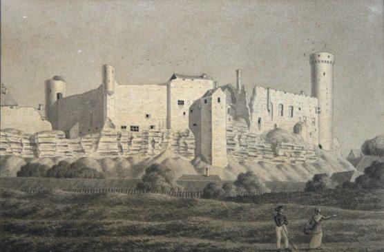 Toompea 1810. aastal. Johann Karl Emmanuel Von Ungern-Sternbergi seepiajoonistus. Tallinna Linnamuuseum