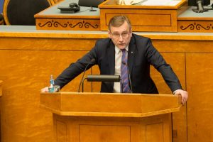 A passionate speech in the Riigikogu. Juhan Parts on February 12 in 2015. Debate on the topic of foreign policy.