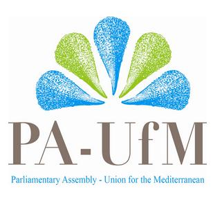 Vahemere Liidu Parlamentaarse Assamblee logo