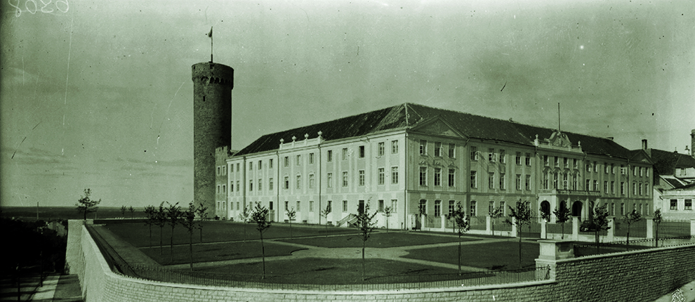 Southern wing and garden of Toompea Castle, designed by Alar Kotli, in 1937.
