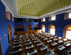 Session Hall of the Riigikogu, view to the seats by the window