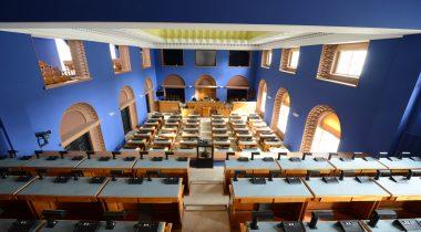 Vaade ajakirjanike rõdult Riigikogu istungisaali