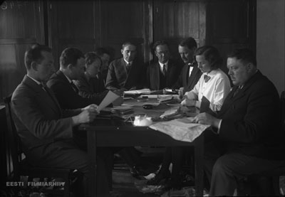 Counting of votes at the elections of the 5th Riigikogu. Paide, May 1932. Photo: Estonian Film Archives