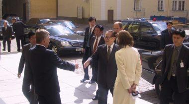 IX Riigikogu esimehe Toomas Savi kohtumine Hiina president Jiang Zemin´ga