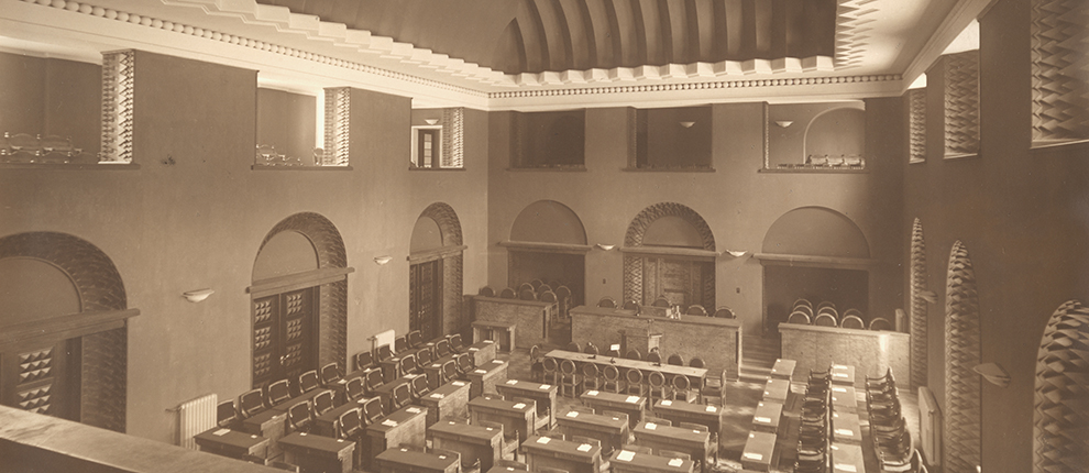 Session Hall of the Riigikogu in the 1920s