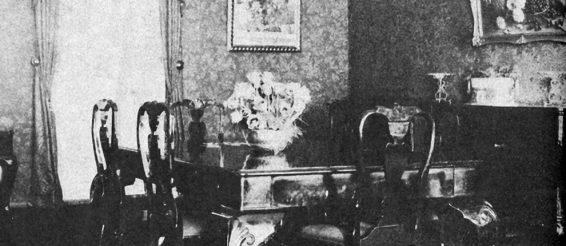 Vaade Riigivanema korterisse, mis asus Toompea lossi põhjapoolses amfilaadis. 1933. (Rudolf Kenkmann, Jooni Toompea lossi minevikust. – Olion, 1933, 5–6. 309–312.)