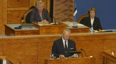 X Riigikogu IV sügisistungjärgu avaistung Presidendi kõne