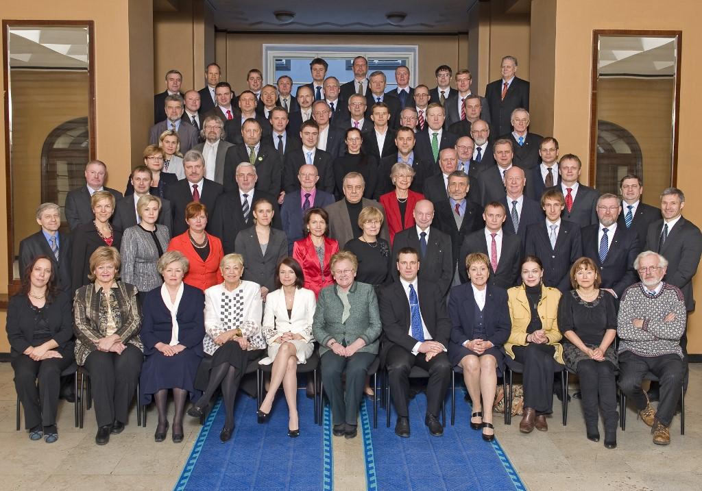 Фотография с окончания полномочий XI Рийгикогу, 23 февраля 2011 г.