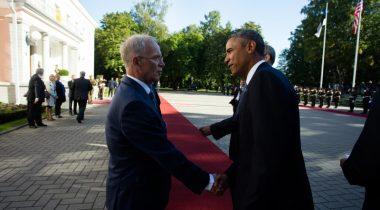 XII RK esimees ja Obama Foto Rene Velli, Vabariigi Presidendi Kantselei