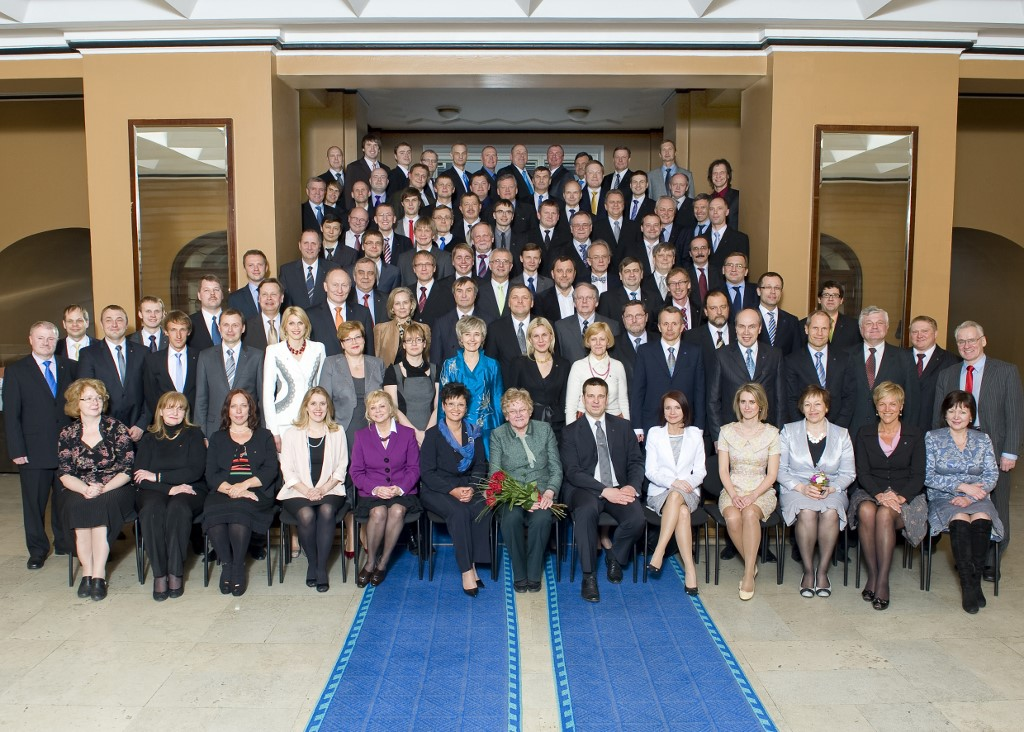 Photo of the opening of the 12th Riigikogu, 4 April 2011.