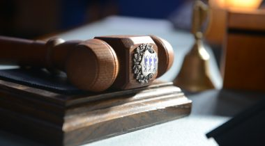Gavel of the chair of the sitting