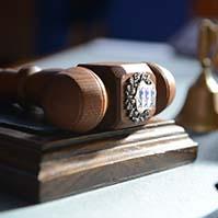 Riigikogu istungi juhataja haamer