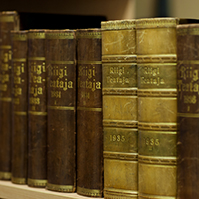 Old State Gazettes in Parliament's reading room