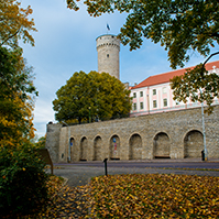 View of the Toompea Castle in autumn