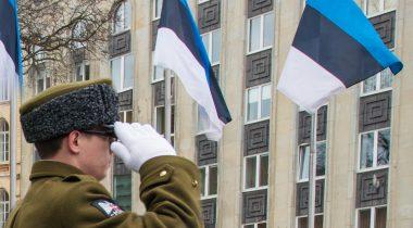Eesti lipud lehvimas
