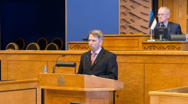 Jaanus Karilaid annab ametivande