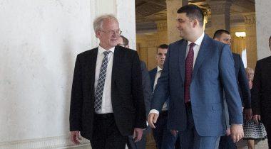 Riigikogu esimees Eiki Nestor ja Ülemraada spiiker Volodõmõr Groisman.