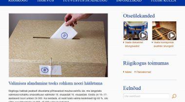 Riigikogu veebi ekraanipilt