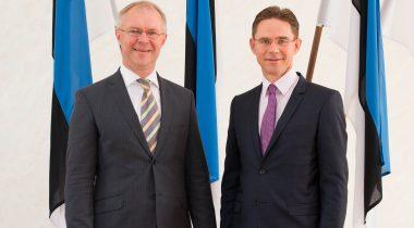 Väliskomisjoni esimehe Hannes Hanso kohtumine Euroopa Komisjoni asepresidendi Jyrki Kataineniga