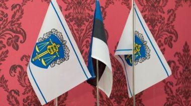 Riigiprokuratuuri lipud Eesti lipuga