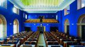 Vaade istugi juhataja juurest Riigikogu istungisaalile ja laele