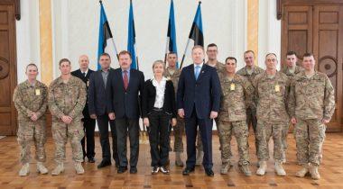 Kohtumine Eestis paikneva Ameerika Ühendriikide maaväe üksuste juhtkonnaga