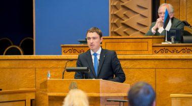 Peaminister Taavi Rõivas kõnepuldis