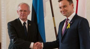 Riigikogu esimees Eiki Nestor ja Poola president Andrzej Duda