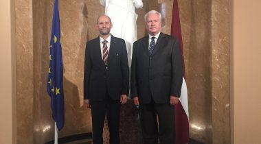 Riigikogu aseesimees Helir-Valdor Seeder ja Läti põllumajandusminister Jānis Dūklavs