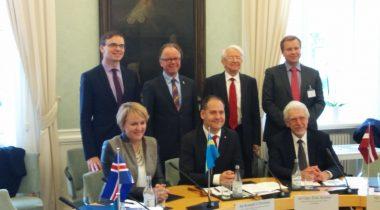 Sven Mikser Põhjamaade ja Balti riikide parlamentide väliskomisjoni esimeeste kohtumisel Stockholmis