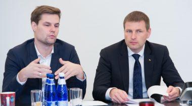 ELAKi esimees Kalle Palling ja siseminister Hanno Pevkur