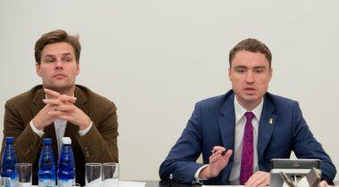 Euroopa Liidu asjade komisjoni esimees Kalle Palling ja peaminister Taavi Rõivas