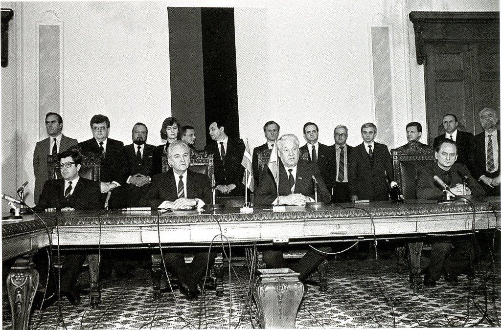 Jeltsini kohtumine Balti riikide juhtidega